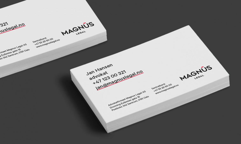 Magnus Legal Visittkort