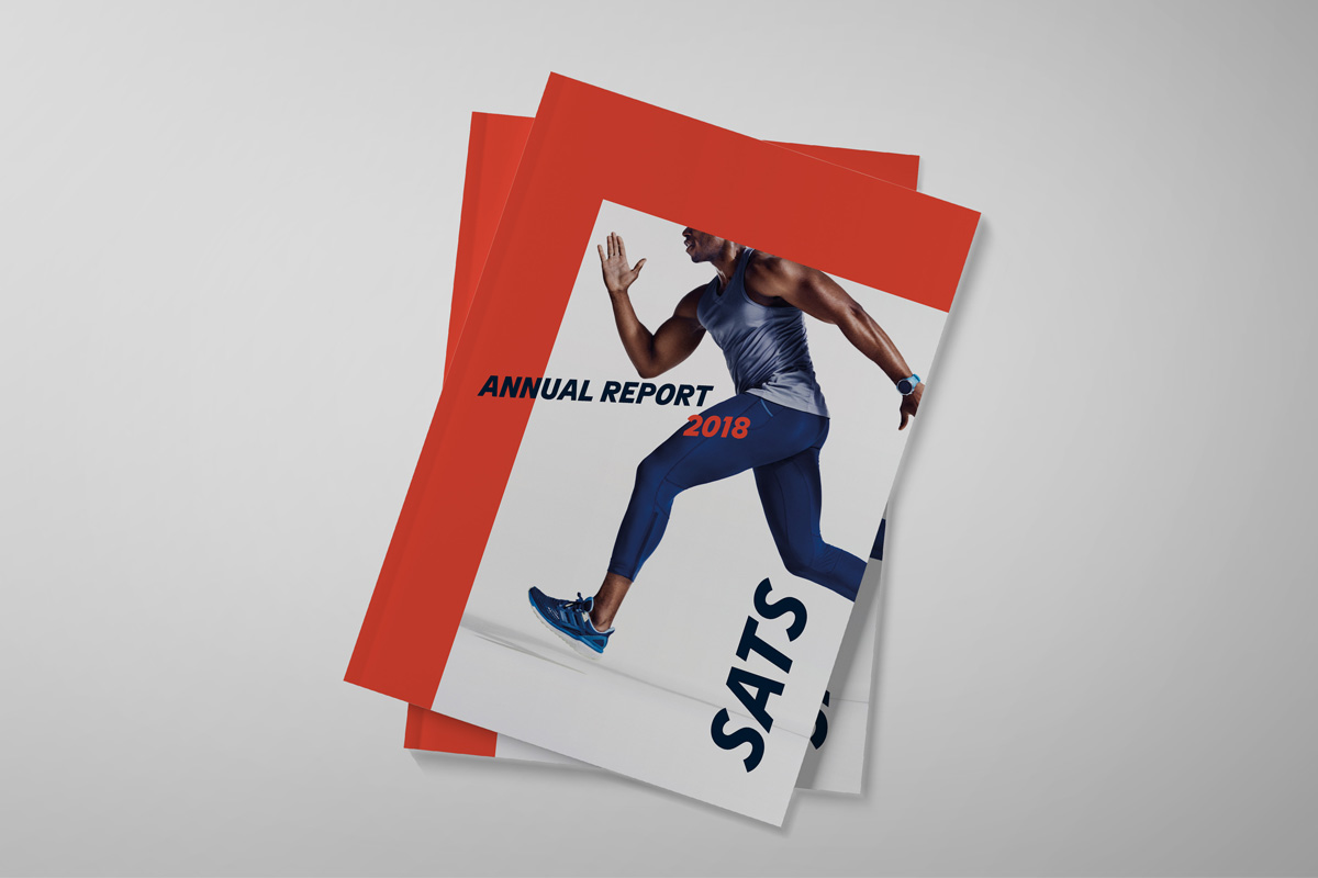 Design av årsrapport for SATS