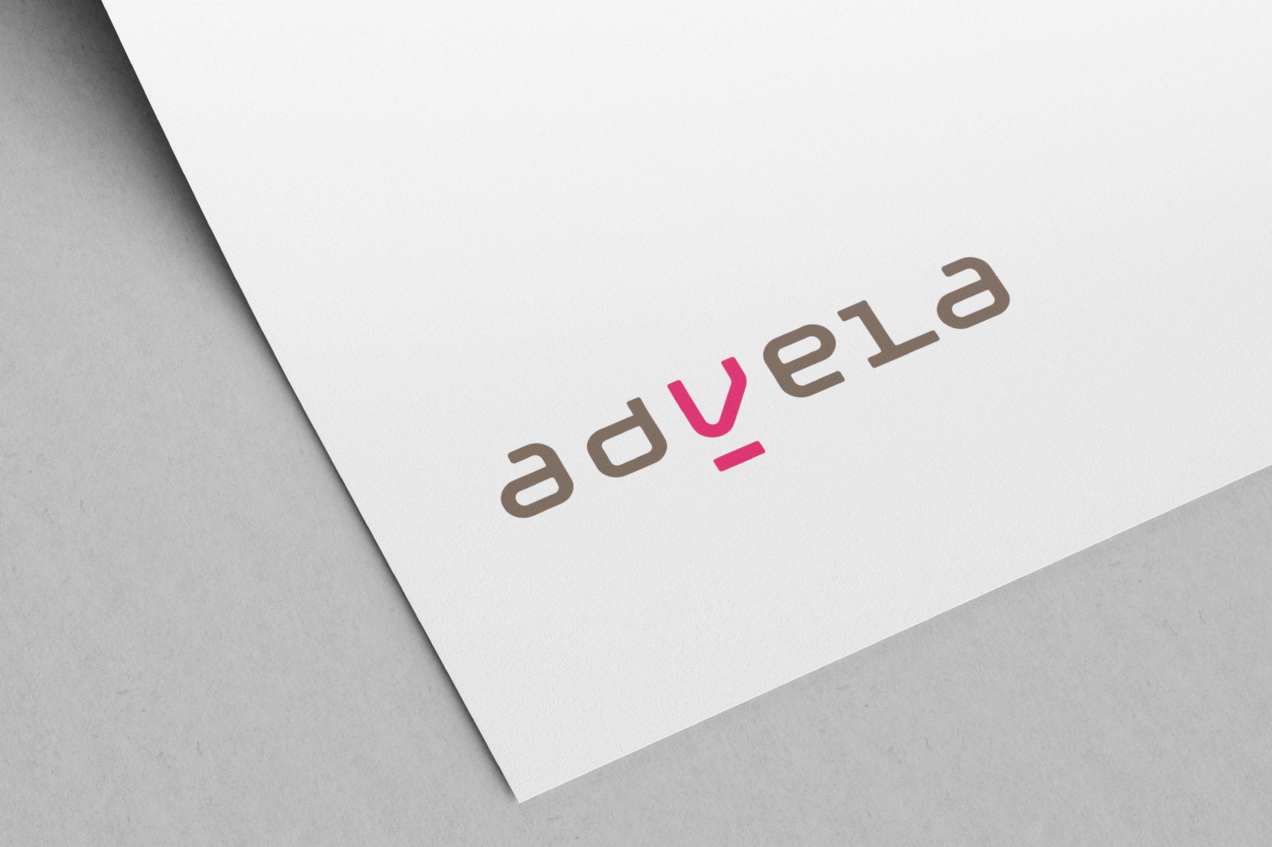 Advela logo på brevark