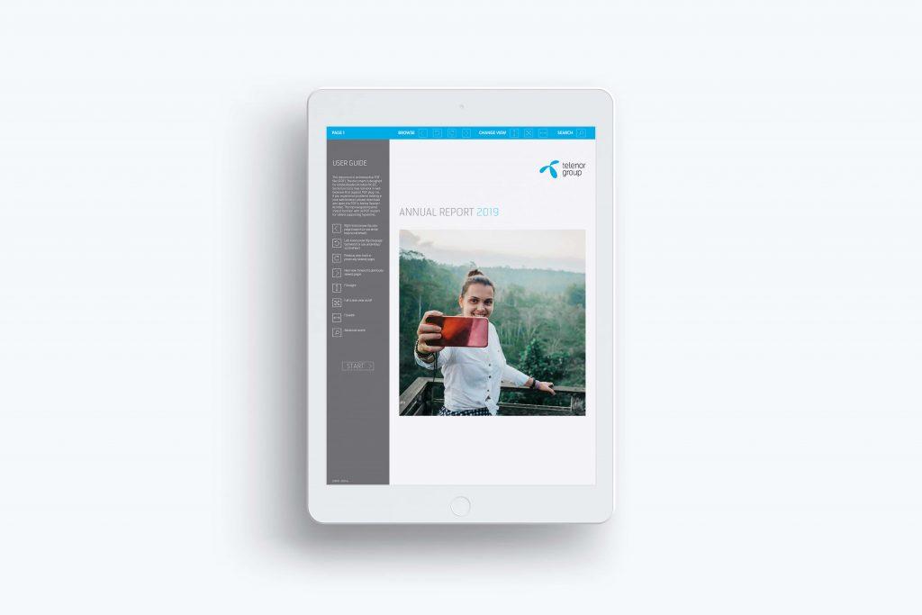 Design av årsrapport Telenor 2019