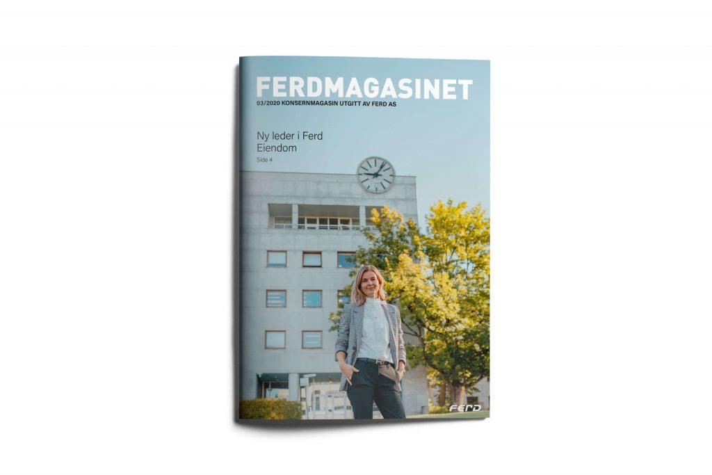 Grafisk design Ferdmagasinet cover