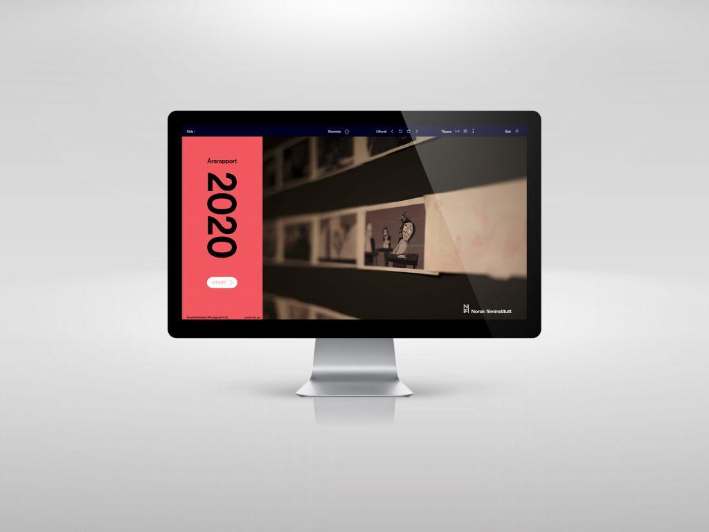 Interaktiv årsrapport for Norsk Filminstitutt