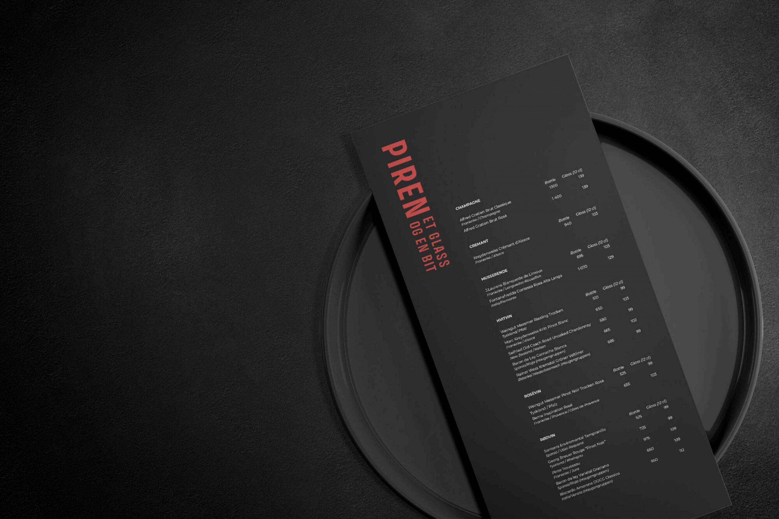 Logo, visuell profil og nettside for PIREN – et glass og en bit