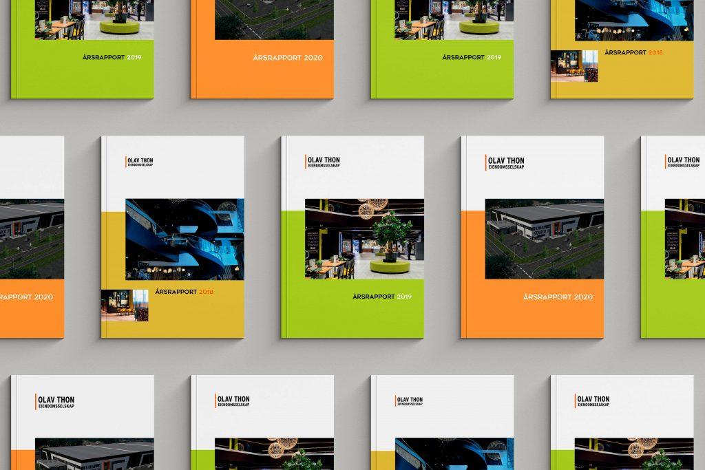 Design av årsrapport for Olav Thon Eiendomsselskap